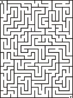 Printable Maze for Kids Mazes For Kids Printable, Worksheets For Kids, Activities For Kids, Animal Worksheets, Maze Drawing, 252 Basics, Maze Worksheet, Maze Design, Maze Puzzles