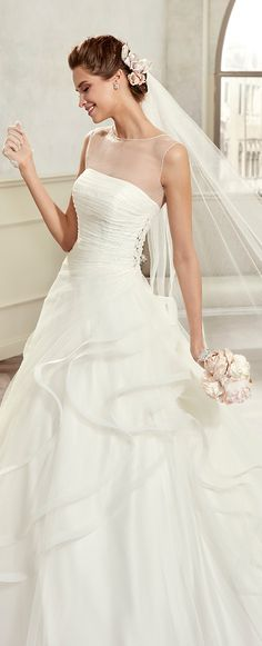 """Colet ivory """"A"""" line dress, in tulle with beading. Colet 2017 Collection - Wedding dress"""