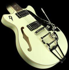 Duesenberg Fullerton TV Double Cutaway Electric Guitar Vintage White