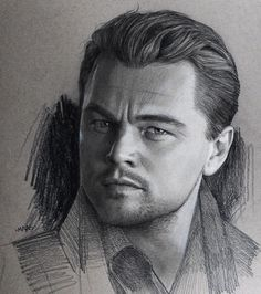 Pastel Charcoal and Graphite Celebrity Portraits 2 Leonardo Dicaprio. Pastel Charcoal and Graphite Celebrity Portraits By Justin Maas. Realistic Pencil Drawings, Pencil Art Drawings, Art Drawings Sketches, Leonardo Dicaprio, Portrait Male, Pencil Portrait, Celebrity Drawings, Celebrity Portraits, Art Visage