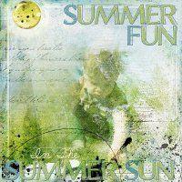 Layout using Summer Fun Blenders