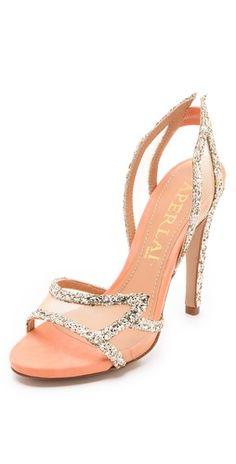 Aperlai Glitter Wing Sandals | SHOPBOP