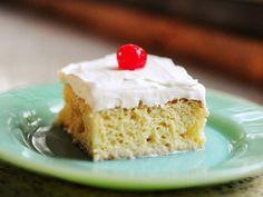 Tres Leches Cake recipe: Eagle Brand, Evap, 1/4 cup cream