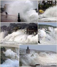 Cornwall getting hammered.