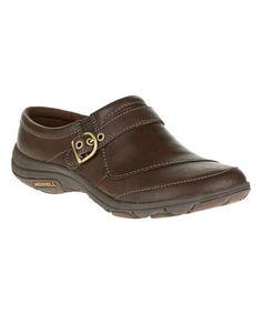 Coffee Dassie Slide Leather Walking Shoe