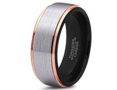 tungsten carbide wedding band - Google Search