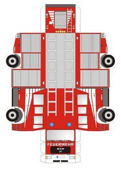 Feuerwehrauto Druckvorlage