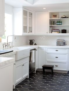 Kitchen Flooring Ideas. Wooden? Tiled? Resin? Vinyl? Get some style underfoot with these stylish kitchen flooring ideas include fresh and new for yo to look for inspiration pictures, photos, material, on a budget, vinyl, inexpensive, farmhouse, laminate, victorian, with dark cabinets, cheap, wood, oak, cork, stone, transition, linoleum #kitchenfloor