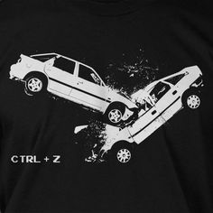 1e68773ef Car Crash accident - Undo CTRL Z Screen Printed T-Shirt Mens Ladies Womens  Funny Geek nerd compute