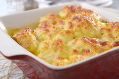 Vegetarian Recipe: Cauliflower Gratin. Nice side dish as accompaniment to a meat dish too.