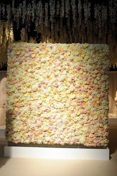 The incredible flower wall, created for Brides The Show by By Appointment Only Design