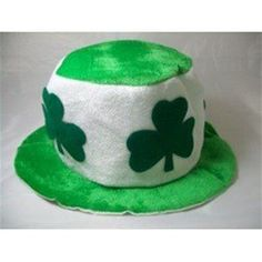 3cda5aed1c3d9 St. Patricks Green   White Clover Hat - 338392