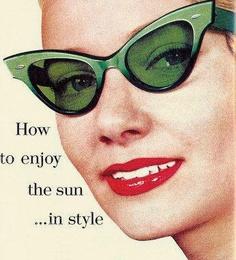 1959 el último grito de la moda en gafas de sol.....