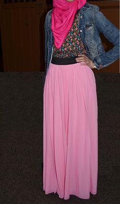 Spring Pink Maxi Skirt