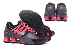 premium selection 4de34 98801 NIKE Shox Avenue 803 Shoes Women air cushion PU surface Black and red Nike  Shox Nz