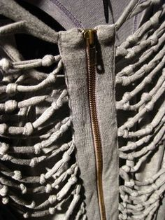 ::: OutsaPop Trashion ::: DIY fashion by Outi Pyy :::: Skeleton knotted hoodie  (i so would not mind having one of these)
