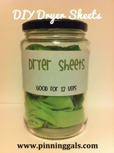 Make your own dryer sheets - they are reusable and eco-friendly!  #ecofriendly