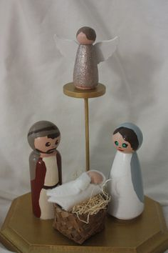 Nativity Scene. Baby Jesus. Clothespin Doll. by MinandMoots on Etsy