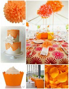 Deco mariage chocolat orange , deco de salle orange chocolat  Thème ...