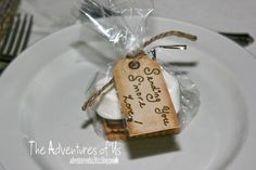 A Country Glam Wedding Inspiration - Sending you S'more Love favors from http://adventuresofus20xx.blogspot.ca/2013/06/a-country-glam-wedding.html
