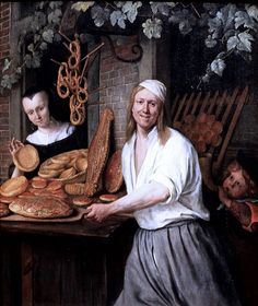 Jan Steen (Leiden 1626 – Leiden The Leiden Baker Arent Oostwaard and his Wife Catharina Keizerswaard, c. 1658 Oil on panel, x cm Rijksmuseum, inv. Rembrandt, La Haye, Dutch Golden Age, European Paintings, Classic Paintings, Beautiful Paintings, Art Paintings, Dutch Painters, Dutch Artists