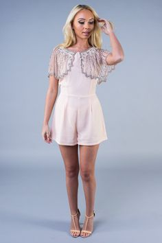 Pink Sparkle Bead Playsuit | LoveFRMS