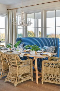 Beachy, Blue Breakfast Nook
