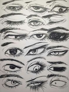 Drawing Techniques, Drawing Tips, Drawing Sketches, Cool Drawings, Realistic Eye Drawing, Manga Drawing, Poses References, Drawing Reference Poses, Anime Eyes