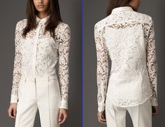 lace blouse | Karen Millen Lace Embroidered Silk Blouse | Lovely ...