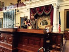 Linda Gray in the House Chamber of the Texas Capitol at the Texas Book Festival.