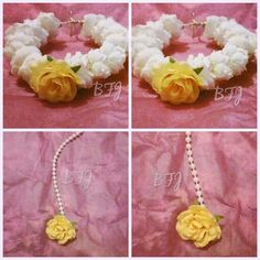 Buttercup collection flower jewellery by bridal flower jewellery www.bridalflowerjewellery.weebly.com