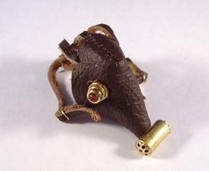 Miniature Leather Steampunk Gas Mask