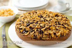 Torta Corn Flakes e Nutella Corn Flakes, Sweet Recipes, Cake Recipes, Dessert Recipes, Plum Cake, Italian Desserts, Fett, Biscotti, Food Porn