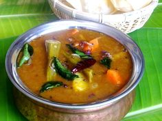 South Indian veg curry made with dal and veggies and flavourful spices. Goes well with rice and Idli and dosa