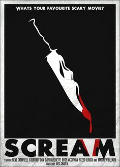 Minimal Movie Posters - Scream by Sam Coyne Horror Movie Posters, Best Movie Posters, Minimal Movie Posters, Minimal Poster, Movie Poster Art, Poster S, Horror Movies, Comedy Movies, Cult Movies
