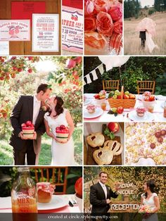 apple themed wedding....super cute idea for a tri-cities fall wedding!