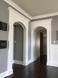 Arch Interior, Interior Trim, Arched Windows, House Windows, Archway Molding, Moulding, Archways In Homes, Door Design, House Design