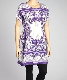 Look at this #zulilyfind! Purple Paisley Tunic - Plus by Life and Style Fashions #zulilyfinds