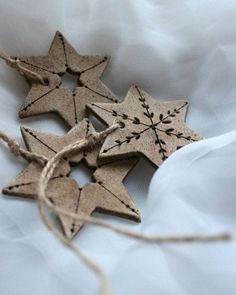 clay ornaments for sale Clay Art Projects, Clay Crafts, Diy And Crafts, Ceramic Christmas Decorations, Xmas Decorations, Clay Ornaments, Holiday Ornaments, Christmas Clay, Christmas Crafts