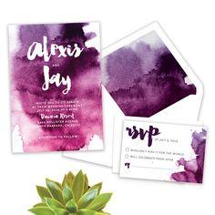 Watercolor Suite // Watercolor Wedding Invitation by AllieVaughanDesign