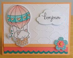 Bonjour by jenn47 - Cards and Paper Crafts at Splitcoaststampers   Newton Dreams of Paris stamp set by Newton's Nook Designs