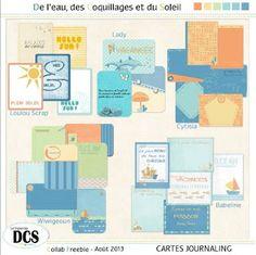 FREE Journal Cards Le blog du forum CS style: De l'eau, des Coquillages et du Soleil