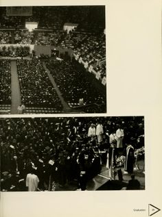 Athena yearbook, 1994. The class of 1994 listen to different speakers before walking the stage to receive their diplomas.  :: Ohio University Archives
