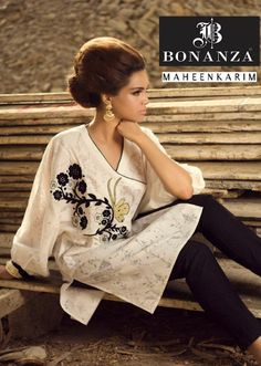 Casual Wear   Maheen Karim and Sanam Chaudhri Collection 2013 By Bonanza   Elegant Western Style Women's Clothes WFC   Style And Fashion