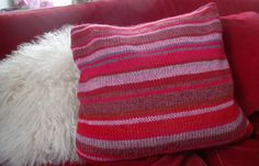 Kissenhülle stricken farbig bunt