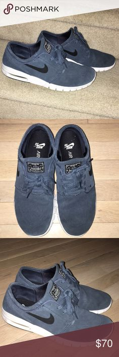 Nike (SB) Stefan Janoski Max blue suede size 9 Nike SB - Stefan Janoski Max - blue suede men's 9. No box. Still in great condition. Nike Shoes Sneakers