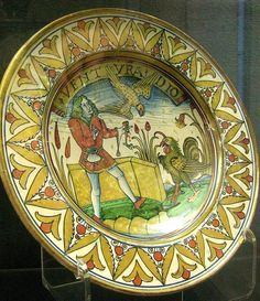 Deruta Maiolica 1490 story from Aesop's Fables Ashmolean Museum, Oxford #TuscanyAgriturismoGiratola