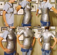 Make your own customized sewing mannequin. This might be handy to have!