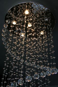 Crystal spiral chandelier.  I wonder how I could replicate this...