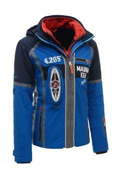 New Bogner Men 3175 Blue John-T Insulated Ski Jacket
